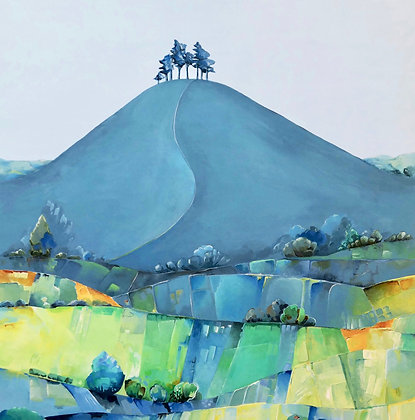 Summer Blues, Colmer's Hill  A3 GICLEE PRINT