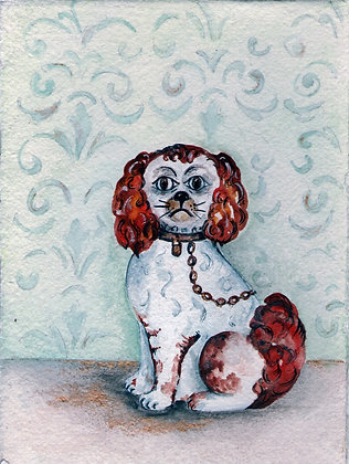 Wally Dog - Original Watercolour Painting