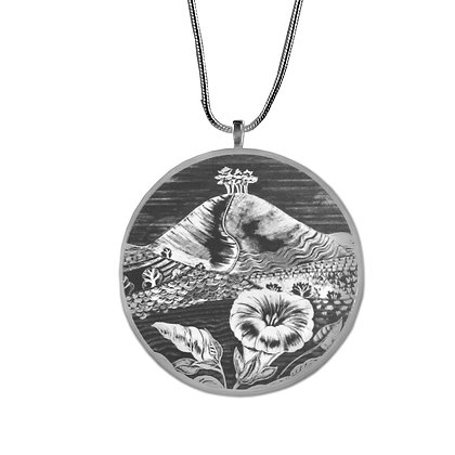 Colmer's Hill Necklace/Pendant -  Illustrated Monochromatic Jewellery