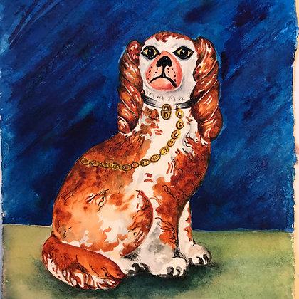 Blenheim Wally Dog  -Original Watercolour