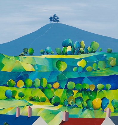 Colmer's Hill from West Bay  A3 Giclee Print
