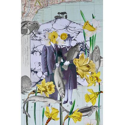 A4 Giclee print   Spring Wedding, Symondsbury