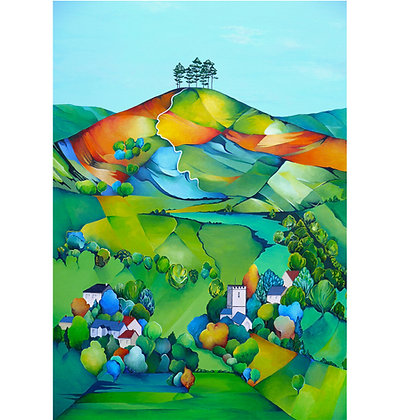 A4 Giclee print Rev. Colmer's Hill