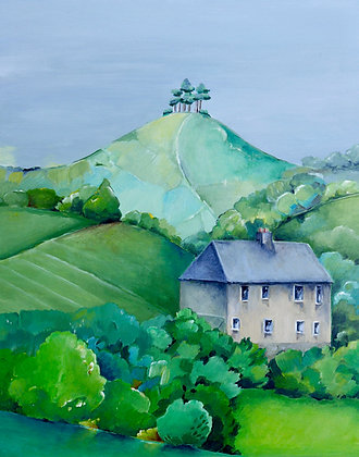 Crepe Cottage, Colmer's Hill Greetings Card