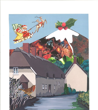 """Colmer's""""Pudding"""" Hill 7x5 Christmas Card"""