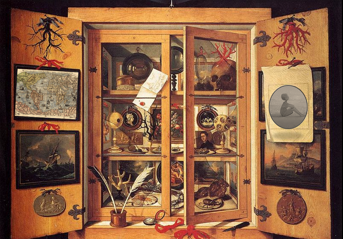 The cabinet of curiosities inside an author's mind...