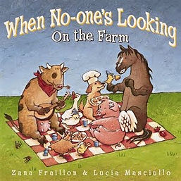 When No One's Looking On The Farm - a delightful picture book to engage the imagination.