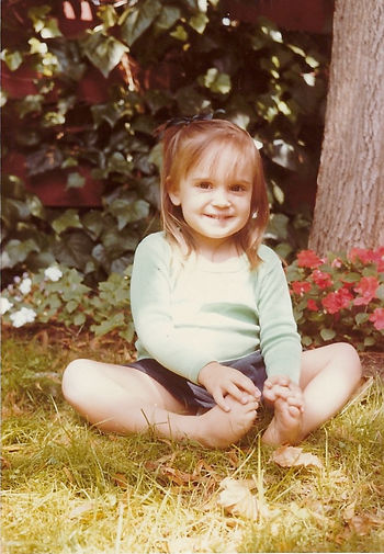 Zana Fraillon as a young child