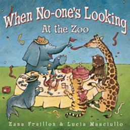 When No One's Looking At the Zoo - a delightful picture book to engage the imagination