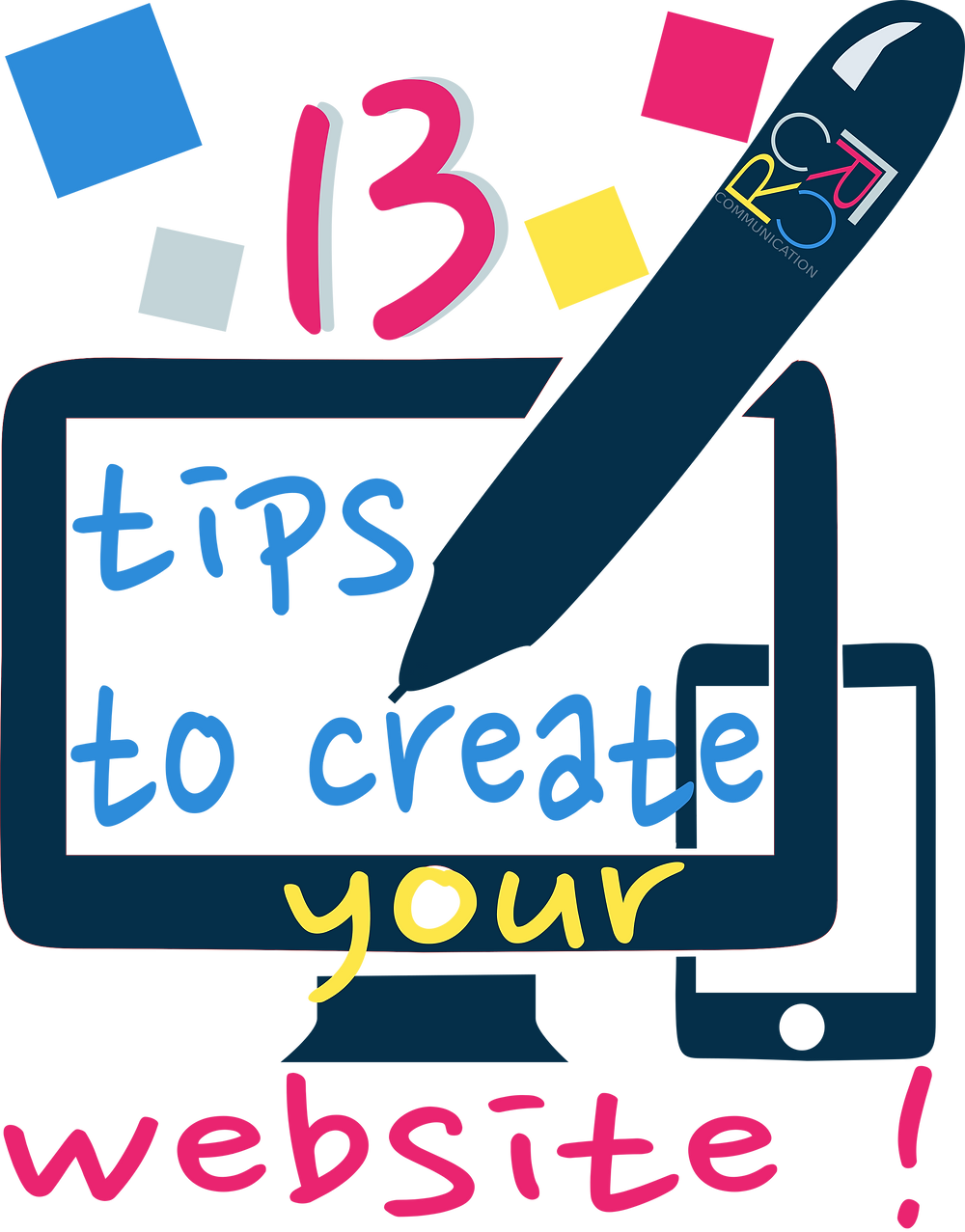 13 tips to create your website, webdesign, SEO