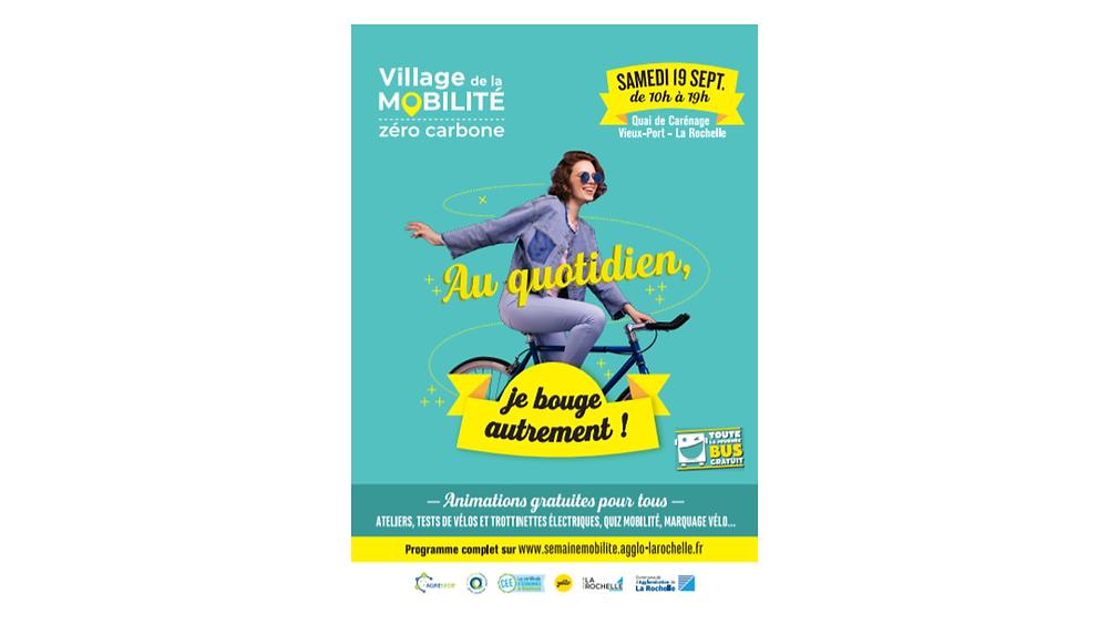 L'agglomération de La Rochelle choisit le réseau d'affichage Aencrage pour promouvoir son village mobilité