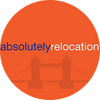 logo absolutely relocation bleu klein 30