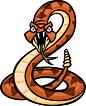 A cartoon of a rattlesnake representing the Rattlesnake Road hill climb