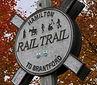 A photograph of a trail sign markin the Hamilton to Brantford Rail Trail