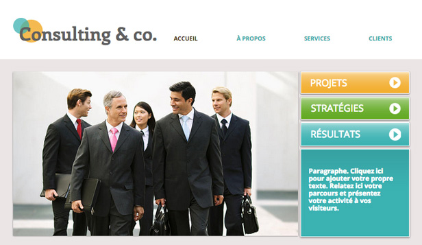 Consulting et Coaching website templates – Conseillers Consultants