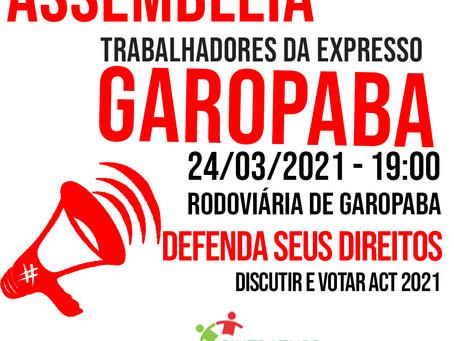 EXPRESSO GAROPABA: ASSEMBLEIA DEFINE ACT 2021