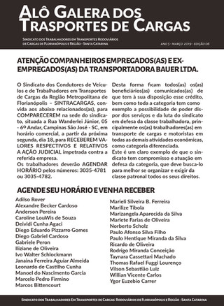 Trabalhadores da Bauer Transportes ganham ação na Justiça