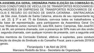 EDITAL ELEIÇÃO COMISSÃO ELEITORAL