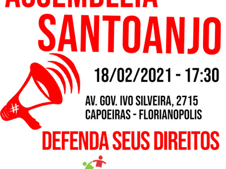 SANTOANJO: ASSEMBLEIA DISCUTE PARCELAMENTO DO 13º
