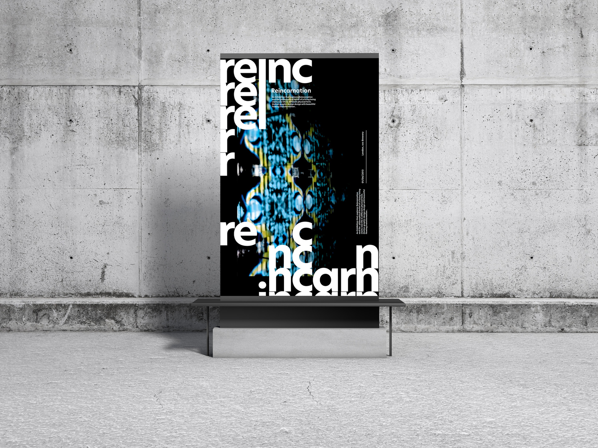 Concrete Environment Display Poster Mock