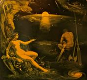 Calipso e Odisseo 175x160 olio su tela 2