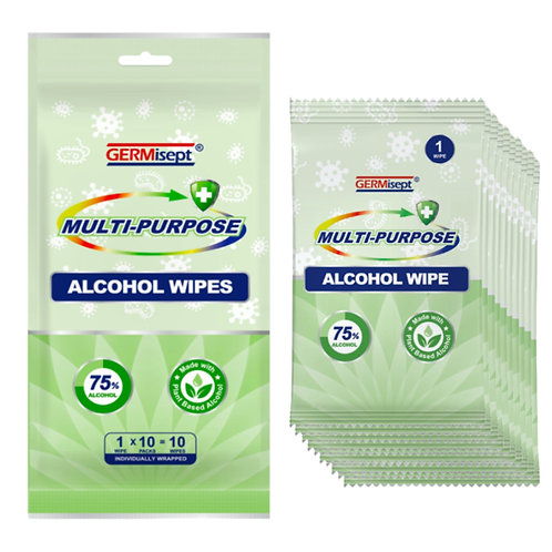 Multi-Purpose Alcohol Wipes 10ct (360 Wipes) Case Pricing Includes 36 Packs