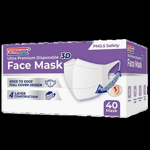 Disposable 3D Face Masks 40ct (1,600 Masks) Case Pricing Includes 40 Boxes