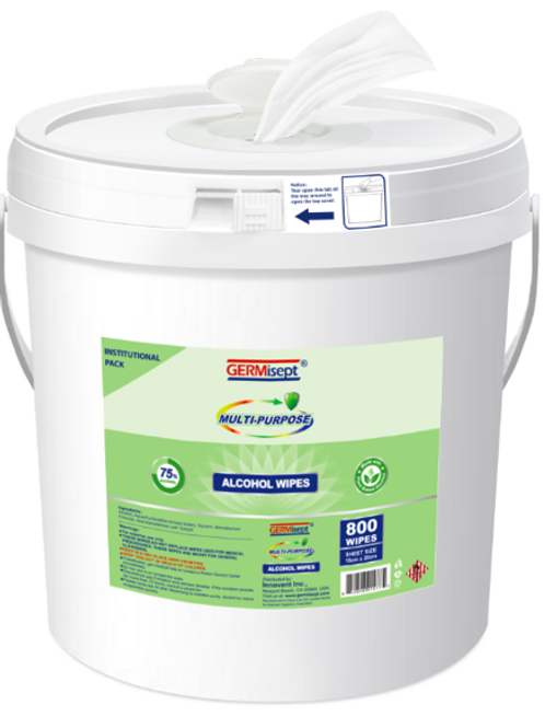 Multi-Purpose Alcohol Bucket 800ct (1,600 Wipes) Case Pricing Includes 2 Buckets