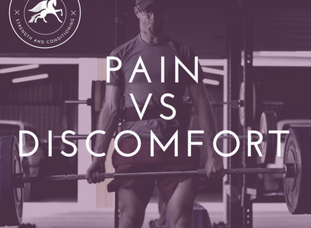PAIN vs DISCOMFORT... WHY YOU NEED TO KNOW THE DIFFERENCE!