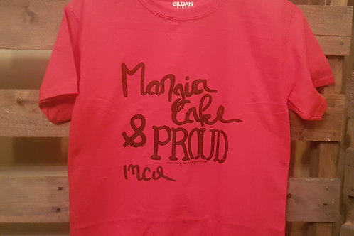 Mangia Cake & Proud Hand Painted T