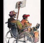 Wheeled Protesters