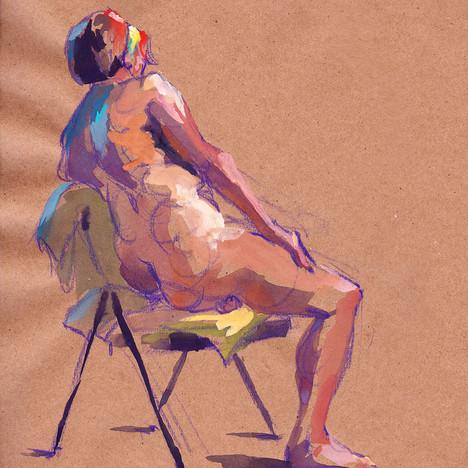 Folding Chair Nude