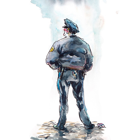 Cop Under a Cloud
