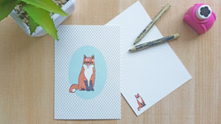Small notebook- fashionable fox