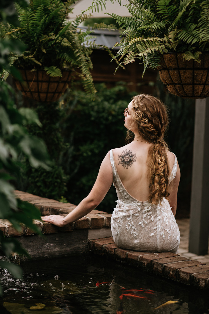 Natural curly Wedding Style