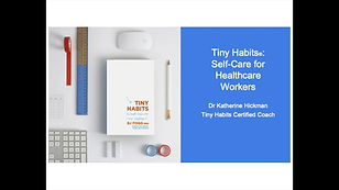 Tiny Habits for Self-Care of Healthcare