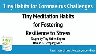 Tiny Meditation Habits for Fostering Res