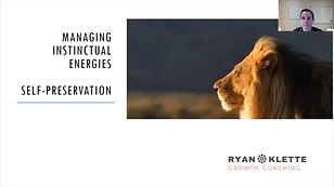 Balancing Instinctual Energies - Self-Pr