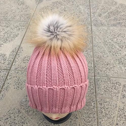 Pink Powder Puff Hat