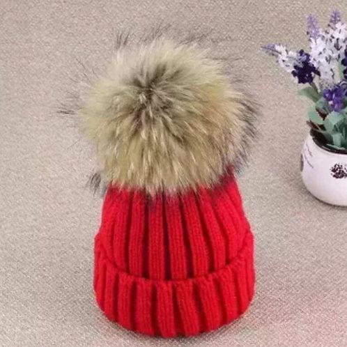 Red Powder Puff Hat