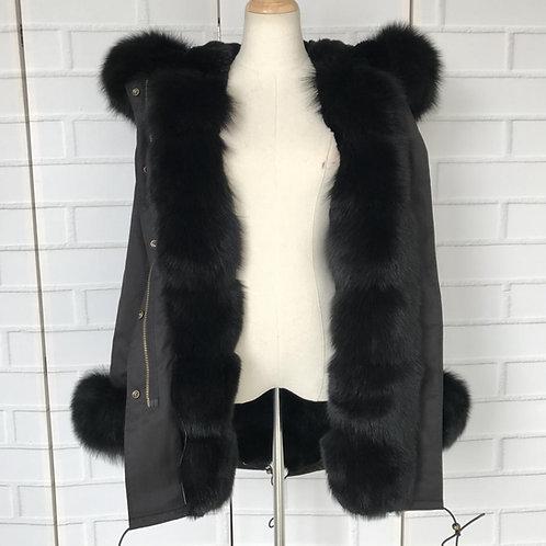 Black Ice Parka Coat