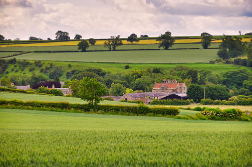 Distant view of Gainford Hall