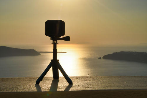 Recording the sunset