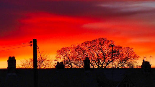 Sunset over the rooftops
