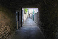 Down the ginnel