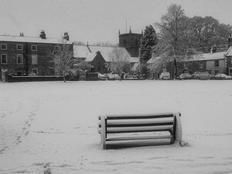 The village green in winter