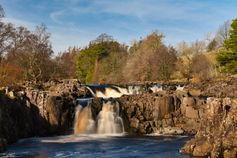 Low force waterfalls