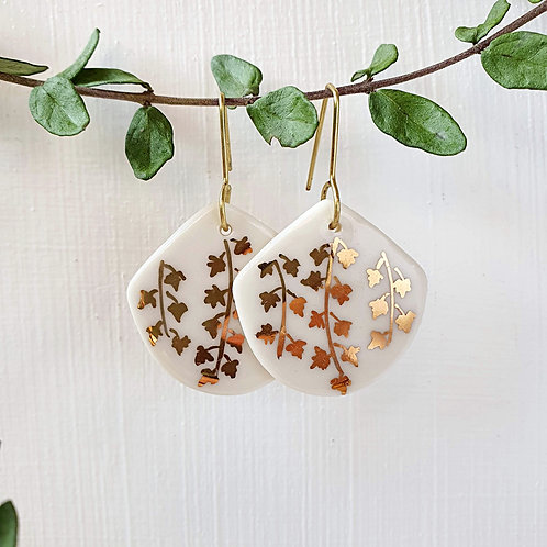 Ivy porcelain earrings