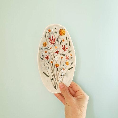 Bouquet jewellery holder porcelain dish