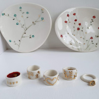 porcelain jewellery holders and rings